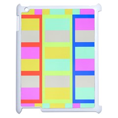 Maximum Color Rainbow Red Blue Yellow Grey Pink Plaid Flag Apple Ipad 2 Case (white) by Alisyart