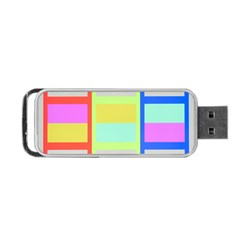 Maximum Color Rainbow Red Blue Yellow Grey Pink Plaid Flag Portable Usb Flash (two Sides)