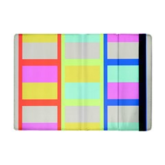 Maximum Color Rainbow Red Blue Yellow Grey Pink Plaid Flag Apple Ipad Mini Flip Case by Alisyart