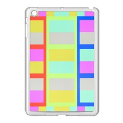 Maximum Color Rainbow Red Blue Yellow Grey Pink Plaid Flag Apple Ipad Mini Case (white)