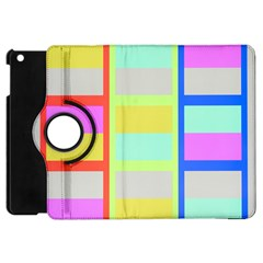 Maximum Color Rainbow Red Blue Yellow Grey Pink Plaid Flag Apple Ipad Mini Flip 360 Case by Alisyart