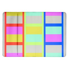 Maximum Color Rainbow Red Blue Yellow Grey Pink Plaid Flag Samsung Galaxy Tab 10 1  P7500 Flip Case by Alisyart