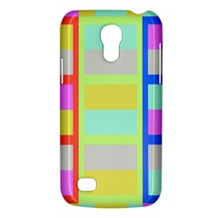 Maximum Color Rainbow Red Blue Yellow Grey Pink Plaid Flag Galaxy S4 Mini