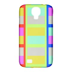 Maximum Color Rainbow Red Blue Yellow Grey Pink Plaid Flag Samsung Galaxy S4 Classic Hardshell Case (pc+silicone) by Alisyart