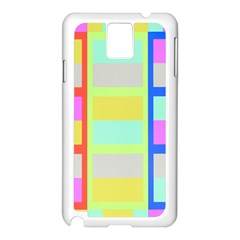 Maximum Color Rainbow Red Blue Yellow Grey Pink Plaid Flag Samsung Galaxy Note 3 N9005 Case (white) by Alisyart