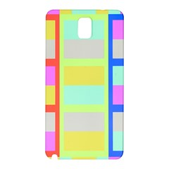 Maximum Color Rainbow Red Blue Yellow Grey Pink Plaid Flag Samsung Galaxy Note 3 N9005 Hardshell Back Case