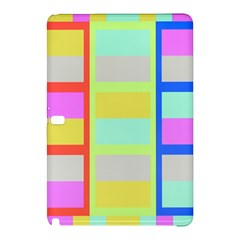Maximum Color Rainbow Red Blue Yellow Grey Pink Plaid Flag Samsung Galaxy Tab Pro 10 1 Hardshell Case