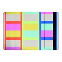 Maximum Color Rainbow Red Blue Yellow Grey Pink Plaid Flag Samsung Galaxy Tab Pro 10 1  Flip Case