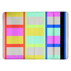 Maximum Color Rainbow Red Blue Yellow Grey Pink Plaid Flag Samsung Galaxy Tab Pro 12 2  Flip Case