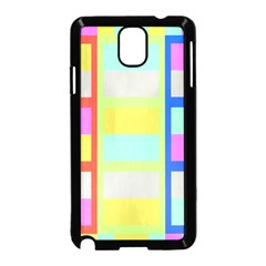 Maximum Color Rainbow Red Blue Yellow Grey Pink Plaid Flag Samsung Galaxy Note 3 Neo Hardshell Case (black)