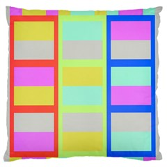 Maximum Color Rainbow Red Blue Yellow Grey Pink Plaid Flag Standard Flano Cushion Case (one Side)