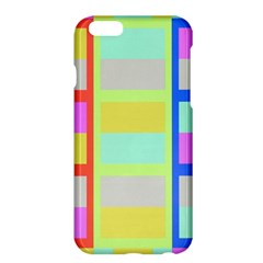 Maximum Color Rainbow Red Blue Yellow Grey Pink Plaid Flag Apple Iphone 6 Plus/6s Plus Hardshell Case