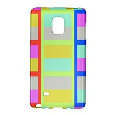Maximum Color Rainbow Red Blue Yellow Grey Pink Plaid Flag Galaxy Note Edge