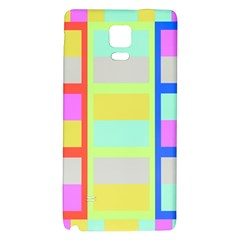 Maximum Color Rainbow Red Blue Yellow Grey Pink Plaid Flag Galaxy Note 4 Back Case