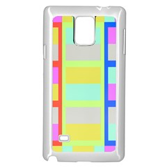Maximum Color Rainbow Red Blue Yellow Grey Pink Plaid Flag Samsung Galaxy Note 4 Case (white)