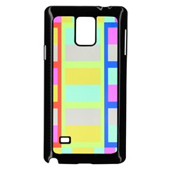 Maximum Color Rainbow Red Blue Yellow Grey Pink Plaid Flag Samsung Galaxy Note 4 Case (black)