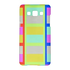 Maximum Color Rainbow Red Blue Yellow Grey Pink Plaid Flag Samsung Galaxy A5 Hardshell Case