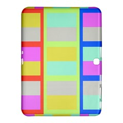 Maximum Color Rainbow Red Blue Yellow Grey Pink Plaid Flag Samsung Galaxy Tab 4 (10 1 ) Hardshell Case  by Alisyart