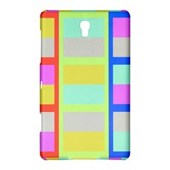Maximum Color Rainbow Red Blue Yellow Grey Pink Plaid Flag Samsung Galaxy Tab S (8 4 ) Hardshell Case  by Alisyart