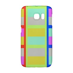 Maximum Color Rainbow Red Blue Yellow Grey Pink Plaid Flag Galaxy S6 Edge by Alisyart