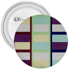 Maximum Color Rainbow Brown Blue Purple Grey Plaid Flag 3  Buttons by Alisyart