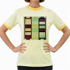 Maximum Color Rainbow Brown Blue Purple Grey Plaid Flag Women s Fitted Ringer T Shirts