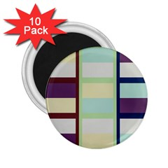 Maximum Color Rainbow Brown Blue Purple Grey Plaid Flag 2 25  Magnets (10 Pack)  by Alisyart
