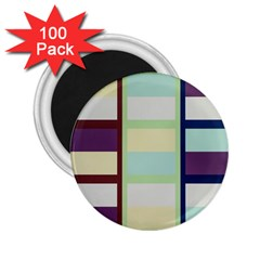 Maximum Color Rainbow Brown Blue Purple Grey Plaid Flag 2 25  Magnets (100 Pack)  by Alisyart