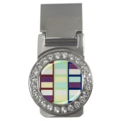 Maximum Color Rainbow Brown Blue Purple Grey Plaid Flag Money Clips (cz)  by Alisyart