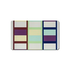 Maximum Color Rainbow Brown Blue Purple Grey Plaid Flag Magnet (name Card) by Alisyart