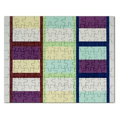 Maximum Color Rainbow Brown Blue Purple Grey Plaid Flag Rectangular Jigsaw Puzzl by Alisyart
