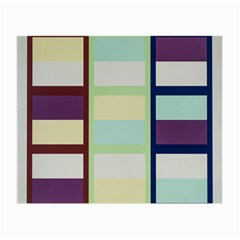 Maximum Color Rainbow Brown Blue Purple Grey Plaid Flag Small Glasses Cloth (2-side) by Alisyart