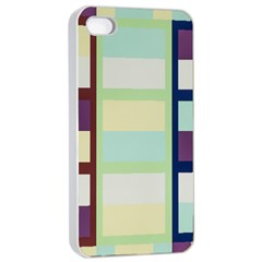 Maximum Color Rainbow Brown Blue Purple Grey Plaid Flag Apple Iphone 4/4s Seamless Case (white) by Alisyart