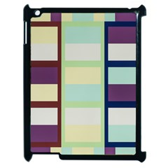 Maximum Color Rainbow Brown Blue Purple Grey Plaid Flag Apple Ipad 2 Case (black) by Alisyart