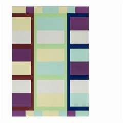 Maximum Color Rainbow Brown Blue Purple Grey Plaid Flag Small Garden Flag (two Sides) by Alisyart