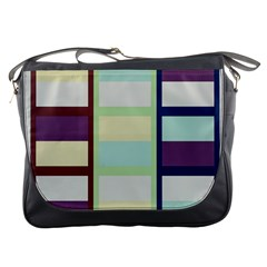 Maximum Color Rainbow Brown Blue Purple Grey Plaid Flag Messenger Bags by Alisyart