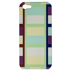 Maximum Color Rainbow Brown Blue Purple Grey Plaid Flag Apple Iphone 5 Hardshell Case by Alisyart