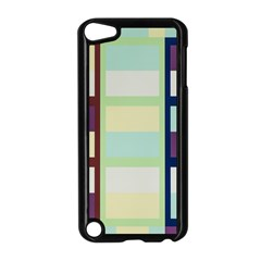 Maximum Color Rainbow Brown Blue Purple Grey Plaid Flag Apple Ipod Touch 5 Case (black) by Alisyart