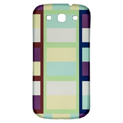 Maximum Color Rainbow Brown Blue Purple Grey Plaid Flag Samsung Galaxy S3 S Iii Classic Hardshell Back Case by Alisyart