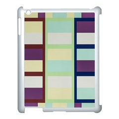 Maximum Color Rainbow Brown Blue Purple Grey Plaid Flag Apple Ipad 3/4 Case (white)