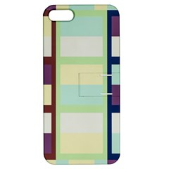 Maximum Color Rainbow Brown Blue Purple Grey Plaid Flag Apple Iphone 5 Hardshell Case With Stand by Alisyart