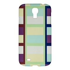 Maximum Color Rainbow Brown Blue Purple Grey Plaid Flag Samsung Galaxy S4 I9500/i9505 Hardshell Case by Alisyart