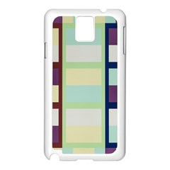 Maximum Color Rainbow Brown Blue Purple Grey Plaid Flag Samsung Galaxy Note 3 N9005 Case (white)