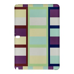Maximum Color Rainbow Brown Blue Purple Grey Plaid Flag Samsung Galaxy Tab Pro 10 1 Hardshell Case