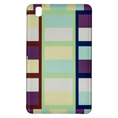 Maximum Color Rainbow Brown Blue Purple Grey Plaid Flag Samsung Galaxy Tab Pro 8 4 Hardshell Case