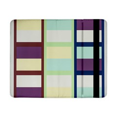 Maximum Color Rainbow Brown Blue Purple Grey Plaid Flag Samsung Galaxy Tab Pro 8 4  Flip Case by Alisyart
