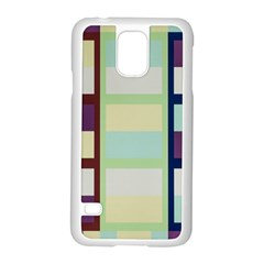 Maximum Color Rainbow Brown Blue Purple Grey Plaid Flag Samsung Galaxy S5 Case (white)