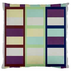Maximum Color Rainbow Brown Blue Purple Grey Plaid Flag Standard Flano Cushion Case (two Sides)