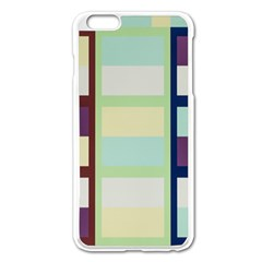 Maximum Color Rainbow Brown Blue Purple Grey Plaid Flag Apple Iphone 6 Plus/6s Plus Enamel White Case