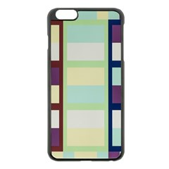 Maximum Color Rainbow Brown Blue Purple Grey Plaid Flag Apple Iphone 6 Plus/6s Plus Black Enamel Case